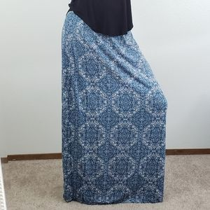 Olive and Oak blue maxi skirt